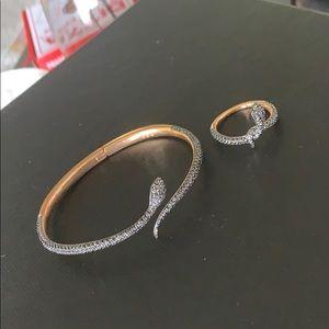 Swarovski snake ring